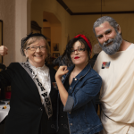 Attendees of Night of the Living Humanities in costume