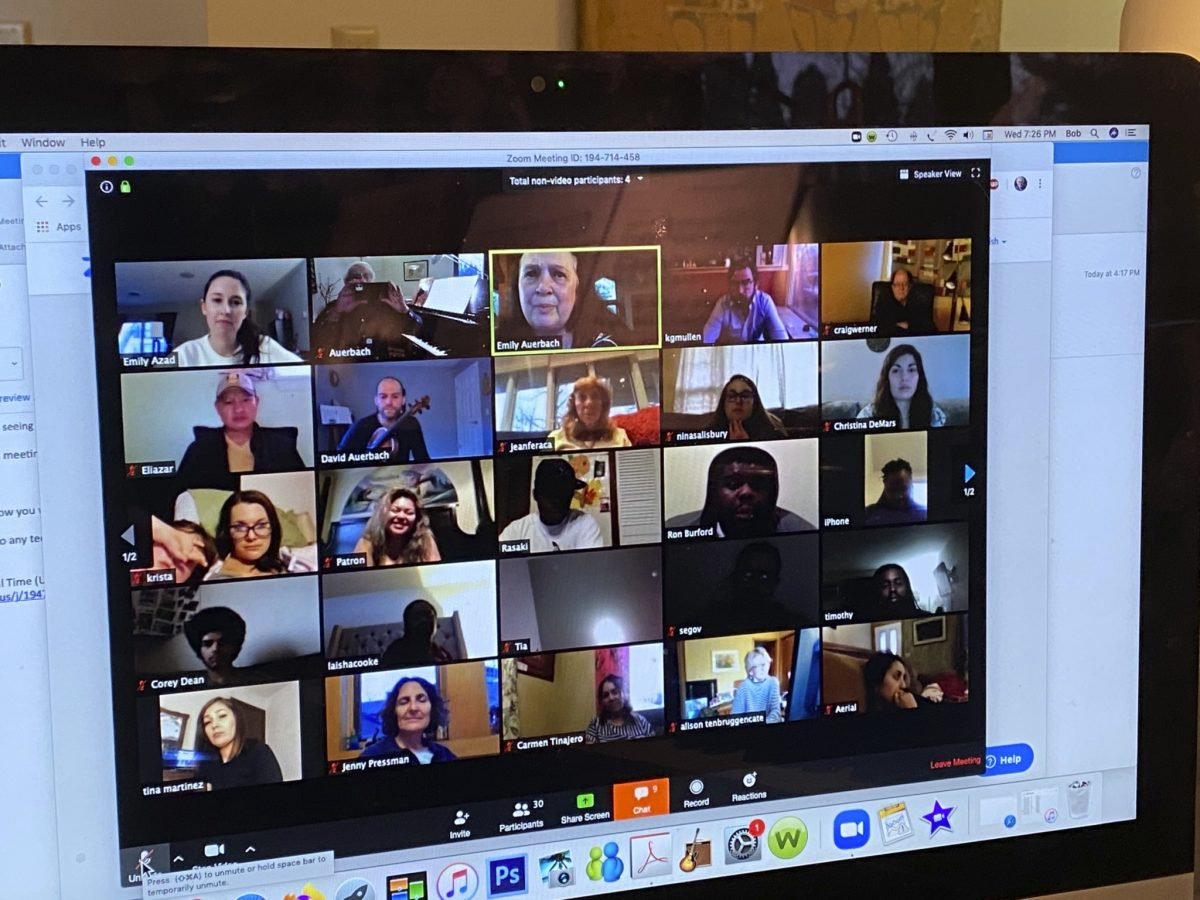 Odyssey participants and staff video conferencing
