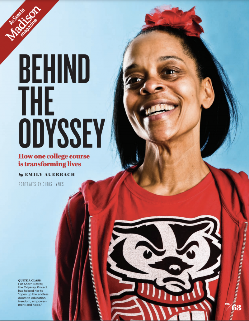 Cover of Madison Magazine featuring Behind the Odyssey article