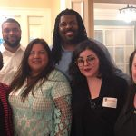 Odyssey alumni join Emily Auerbach at UW Chancellor Becky Blank's house