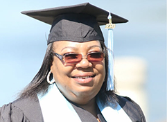 Lolita Phillips in cap and gown