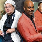 Denise Maddox '04 as Sojourner Truth and Derrick Allen '18 as Duke Ellington