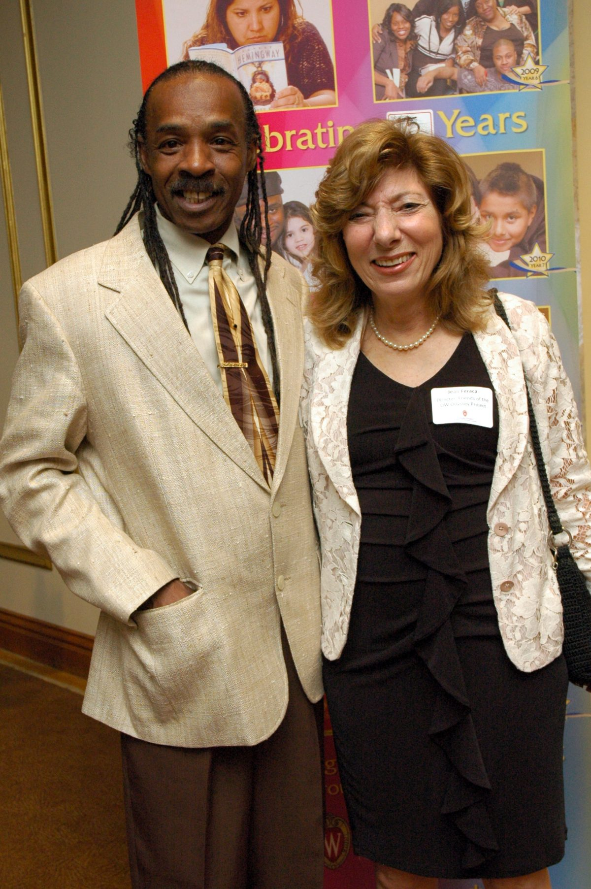 Jean Feraca with James Morgan, Odyssey '13