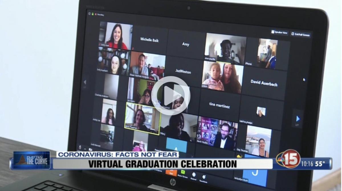 Screenshot of NBC15 covering Odyssey's 2020 virtual graduation