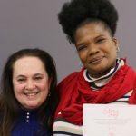 Emily Auerbach with scholarship winner Char Braxton