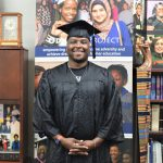 Odyssey '04 graduate Anthony Ward in cap and gown